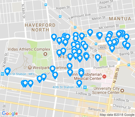 map of West Powelton apartments for rent