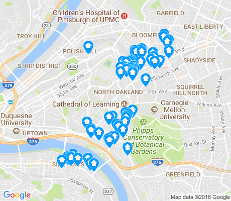 map of 15213 apartments for rent