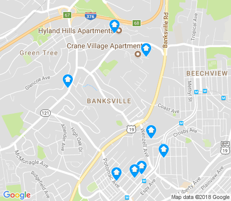 map of Banksville apartments for rent