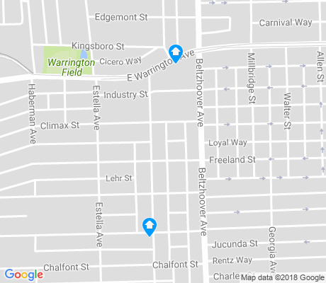 map of Beltzhoover apartments for rent