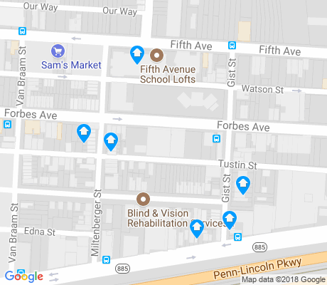 map of Bluff apartments for rent
