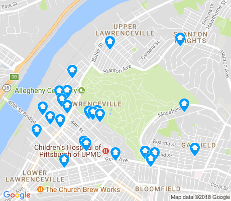 map of Central Lawrenceville apartments for rent