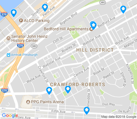 map of Crawford Roberts Hill apartments for rent