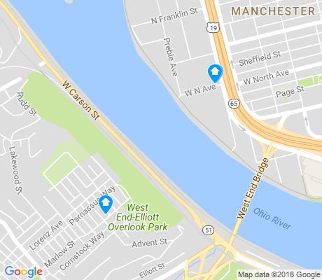 map of Elliot apartments for rent