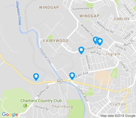map of Fairywood apartments for rent