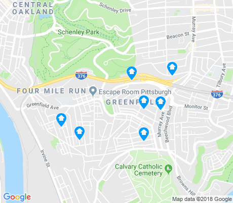 map of Greenfield apartments for rent