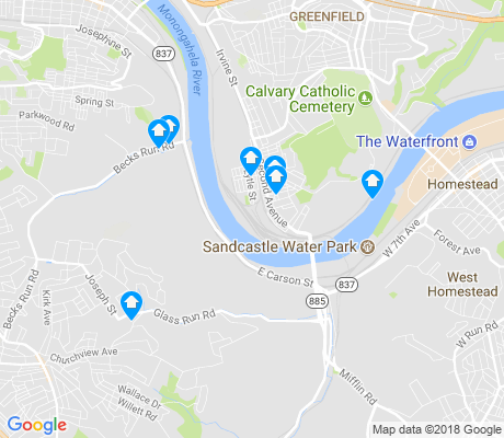 map of Hays apartments for rent