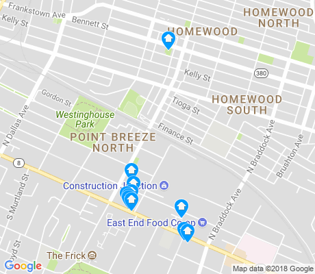 map of Homewood South apartments for rent