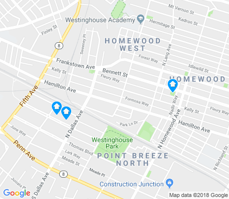 map of Homewood West apartments for rent