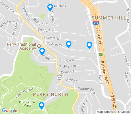 map of Perry North apartments for rent