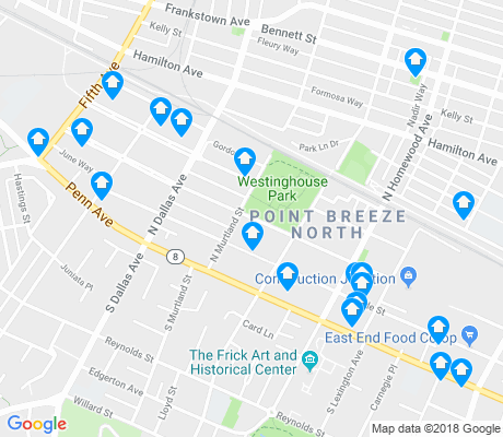 map of Point Breeze North apartments for rent