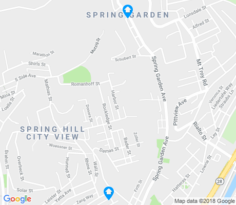 map of Spring Hill City View apartments for rent