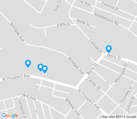 map of Windgap apartments for rent
