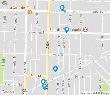 map of Callowhill apartments for rent