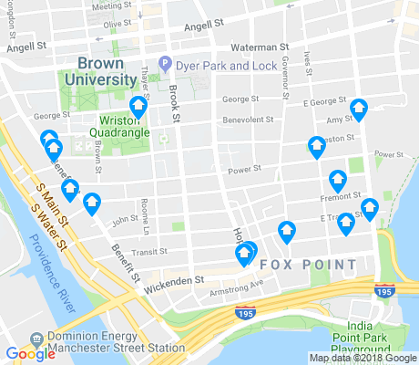 map of Fox Point apartments for rent