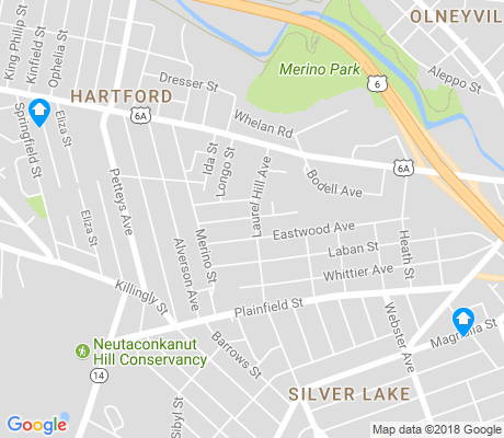 map of Hartford apartments for rent