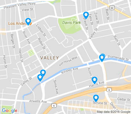 map of Valley apartments for rent