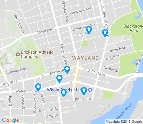 map of Wayland apartments for rent