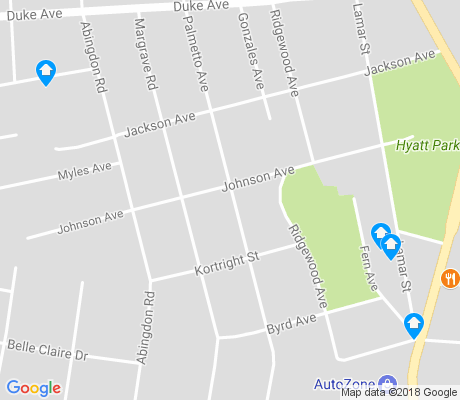 map of Hyatt Park apartments for rent