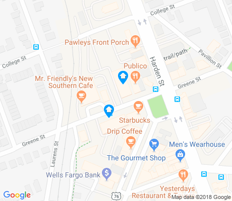map of Martin Luther King apartments for rent