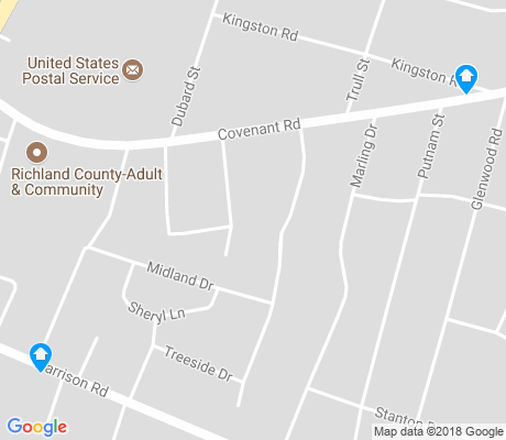 map of Midland Terrace apartments for rent