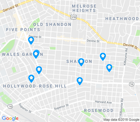 map of Shandon apartments for rent
