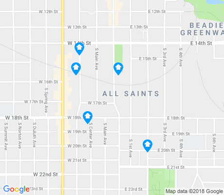map of All Saints apartments for rent