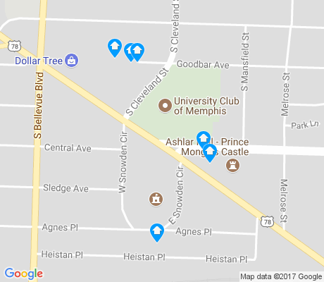 map of Annesdale-Snowden apartments for rent
