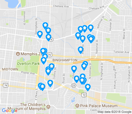 map of Binghampton-Lester apartments for rent