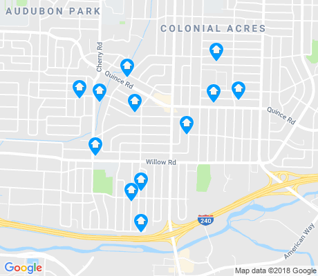 map of Colonial Acres apartments for rent