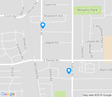 map of Cresent Avenue apartments for rent