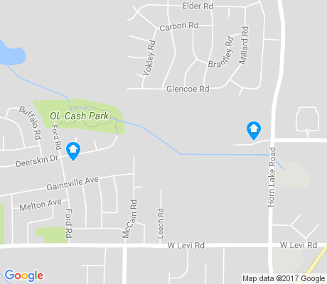 map of Ford Road apartments for rent
