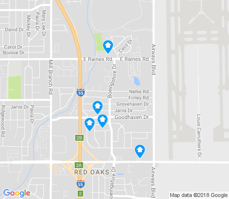 map of Gardenview apartments for rent