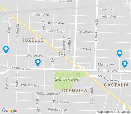 map of Glenview-Edgewood Manor apartments for rent