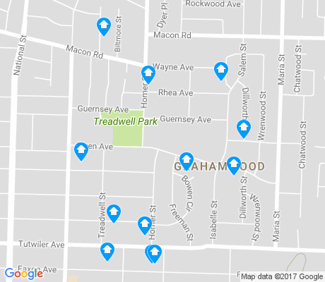 map of Grahamwood apartments for rent