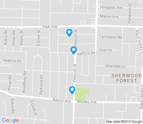 map of Hadley and Prescott apartments for rent