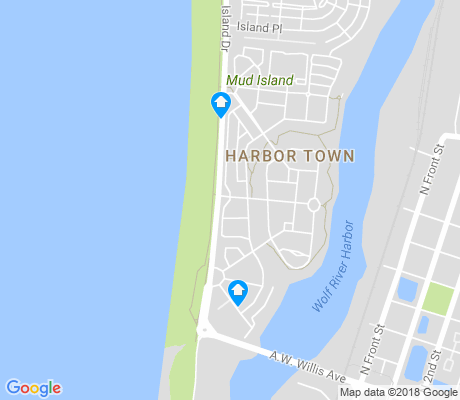 map of Harbor Town apartments for rent