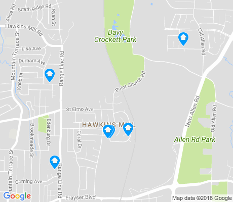 map of Hawkins Mill Residents Associtaion apartments for rent