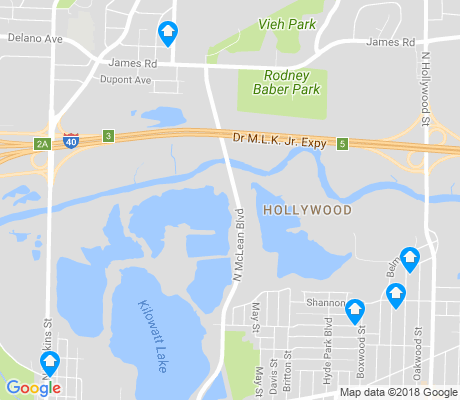 map of Hollywood-Hyde Park-Springdale apartments for rent