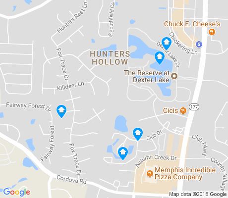 map of Hunters Hollow apartments for rent