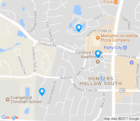 map of Hunters Hollow South apartments for rent