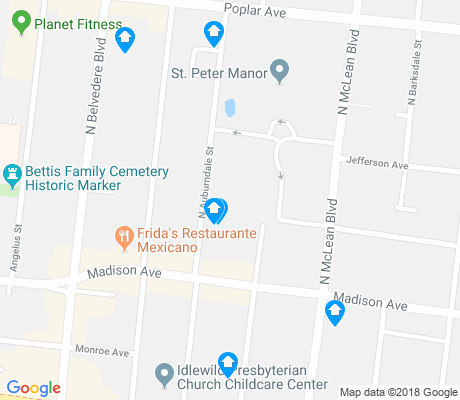 map of Idlewild-East End Historic apartments for rent