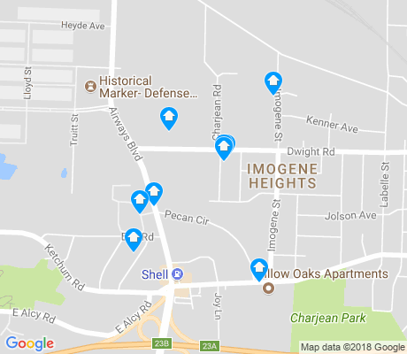 map of Imogene Heights apartments for rent