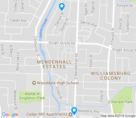 map of Mendenhall Estates apartments for rent
