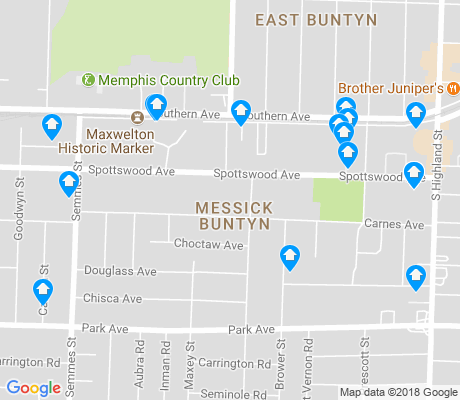 map of Messick Buntyn apartments for rent