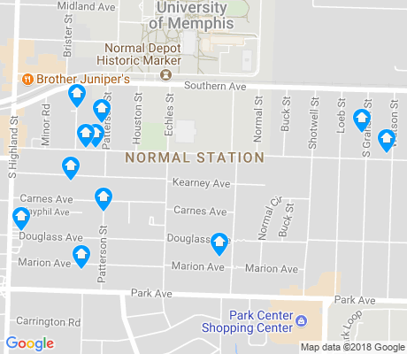 map of Normal Station apartments for rent