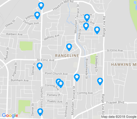 map of Rangeline apartments for rent