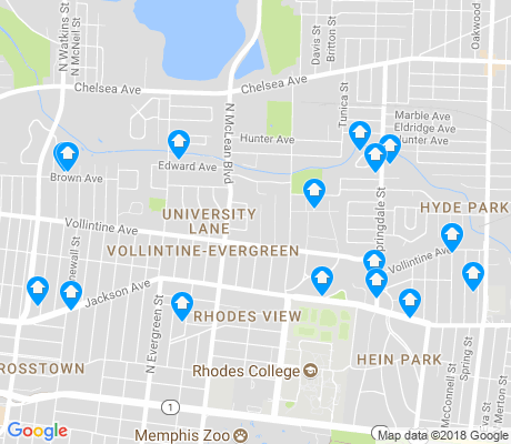 map of Rhodes Hollywood Springdale Partnership apartments for rent