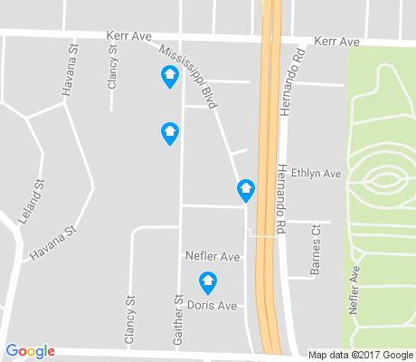 map of South Memphis Alliance and Regrowth Team apartments for rent