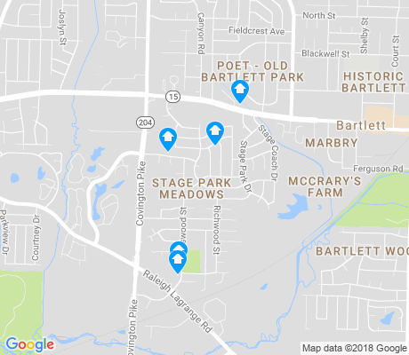 map of Stage Park Meadows apartments for rent